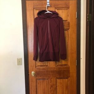 Lululemon maroon zip up jacket